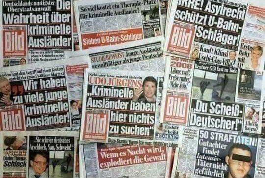Datei:Bild-Zeitung berichtet ueber kriminelle Migranten.jpg