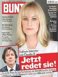 Kachelmann-Prozess - Claudia_Simone_Dinkel_(Titelblatt_Bunte)
