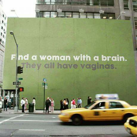 File:Find a woman with a brain - They all have vaginas.jpg