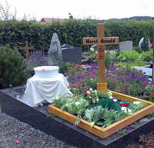 Beerdigung von Horst Arnold am 13.07.2012
