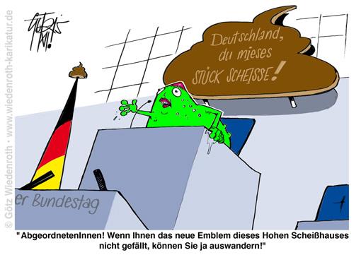 Datei:Linke Propaganda Deutschland Scheisse Bundestag.jpg