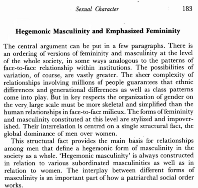 Connell 1987 Hegemonic Masculinity 183.png