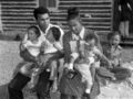 Muhammad Ali with his second wife Belinda Boyd and their four children.jpg